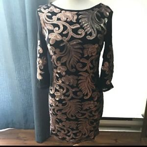 Stunning Embroidered Le Chateau Dress-SZ M